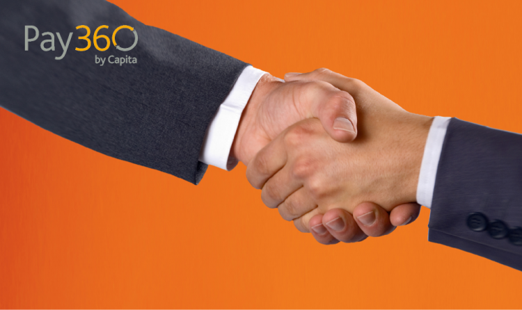 partnership handshake with pay360