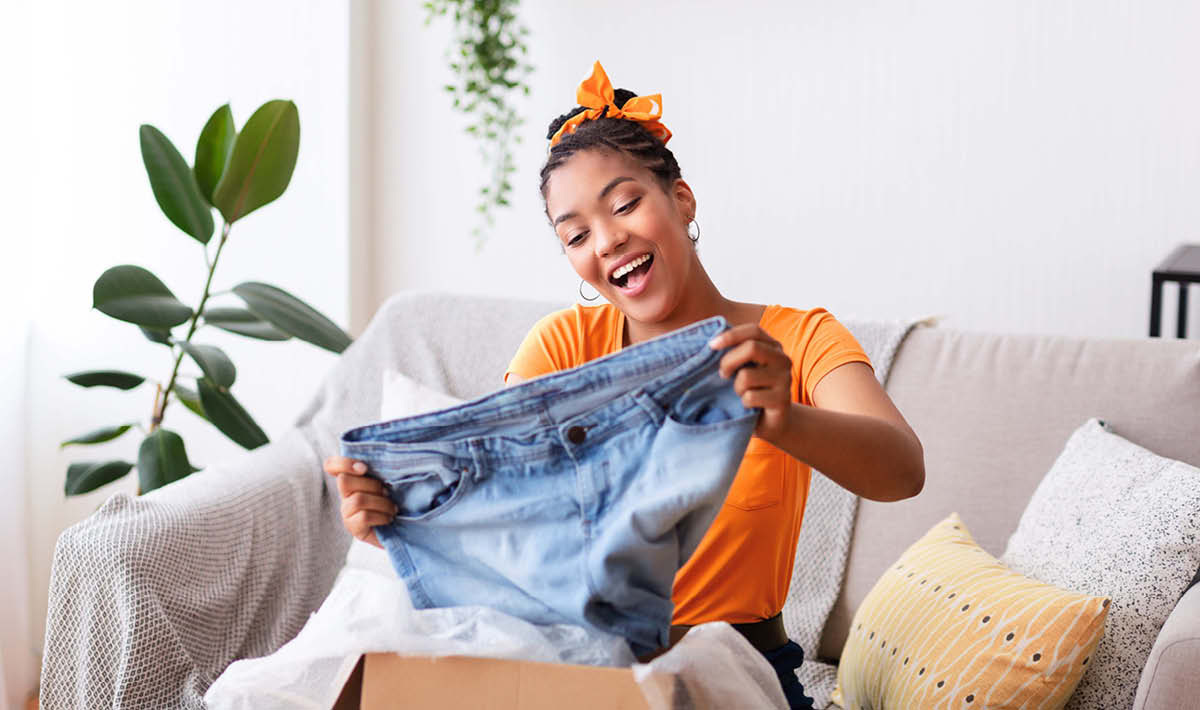 A client purchasing Clothing with successful card transaction